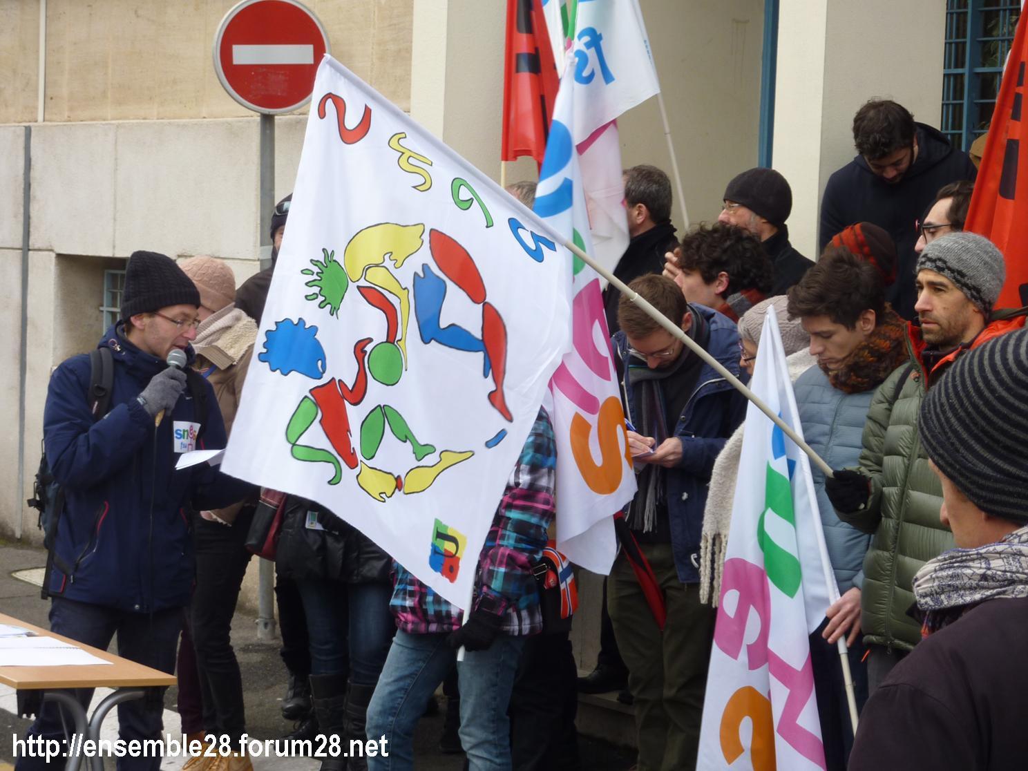 Chartres 24-01-2019 Rassemblement Professeurs Second-Degré SNES-FSU SNFOLC SUD-Éducation CGT-Éducaction 3