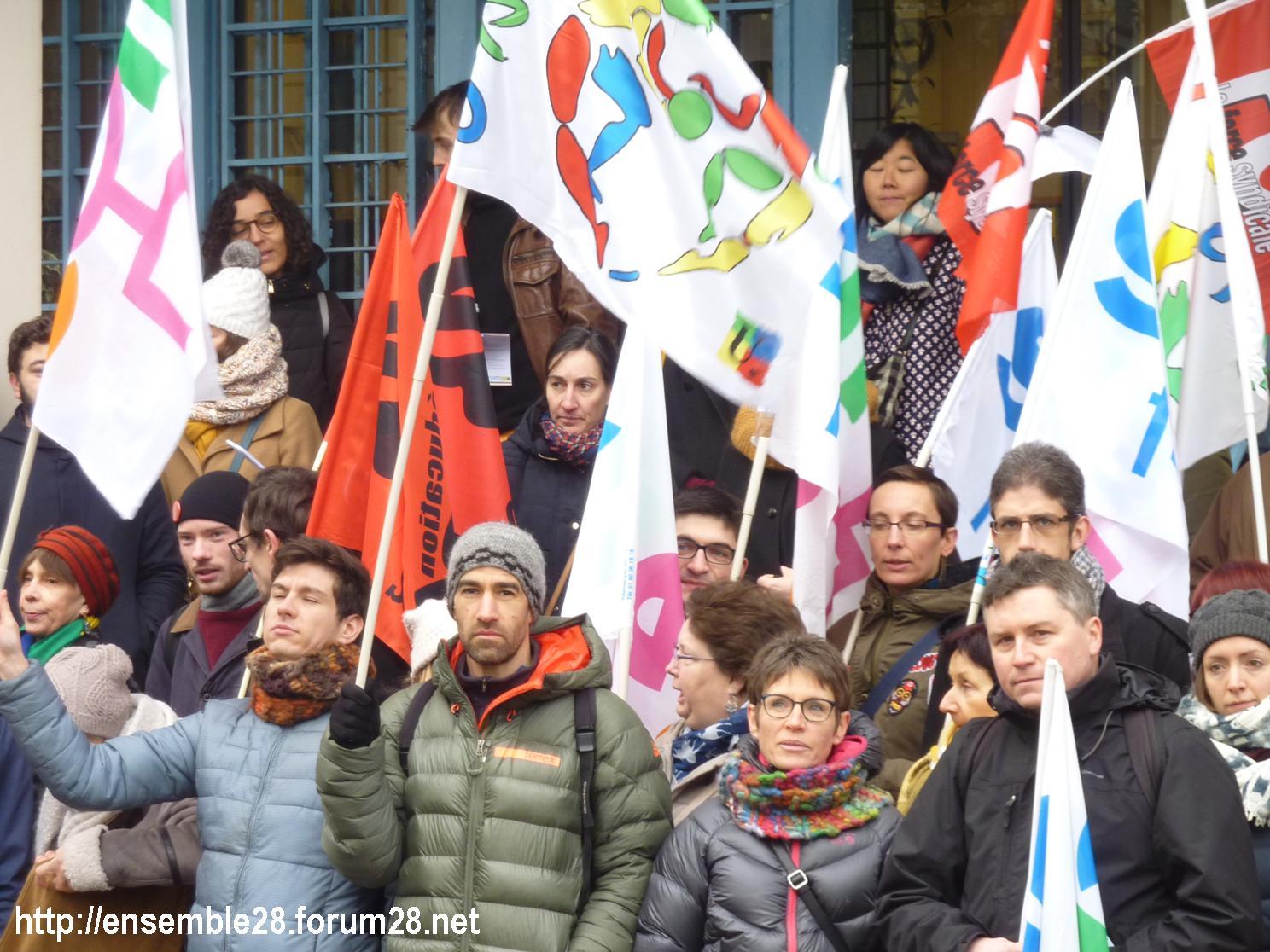 Chartres 24-01-2019 Rassemblement Professeurs Second-Degré SNES-FSU SNFOLC SUD-Éducation CGT-Éducaction 4