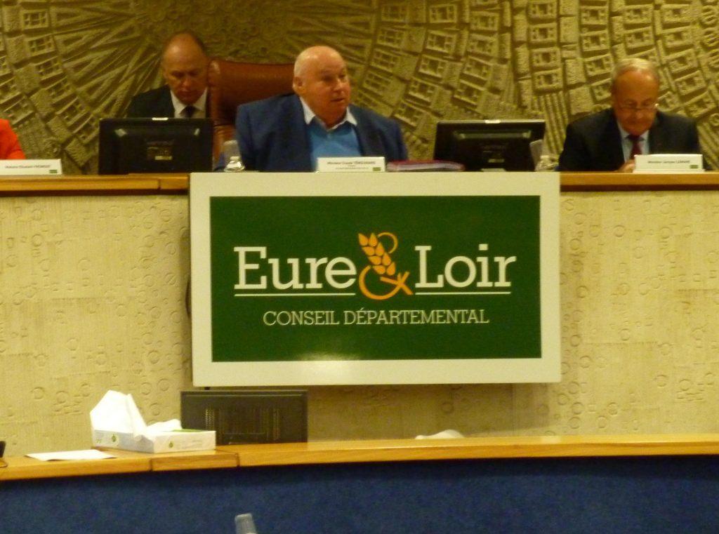 Claude Térouinard Président Conseil départemental Eure-et-Loir