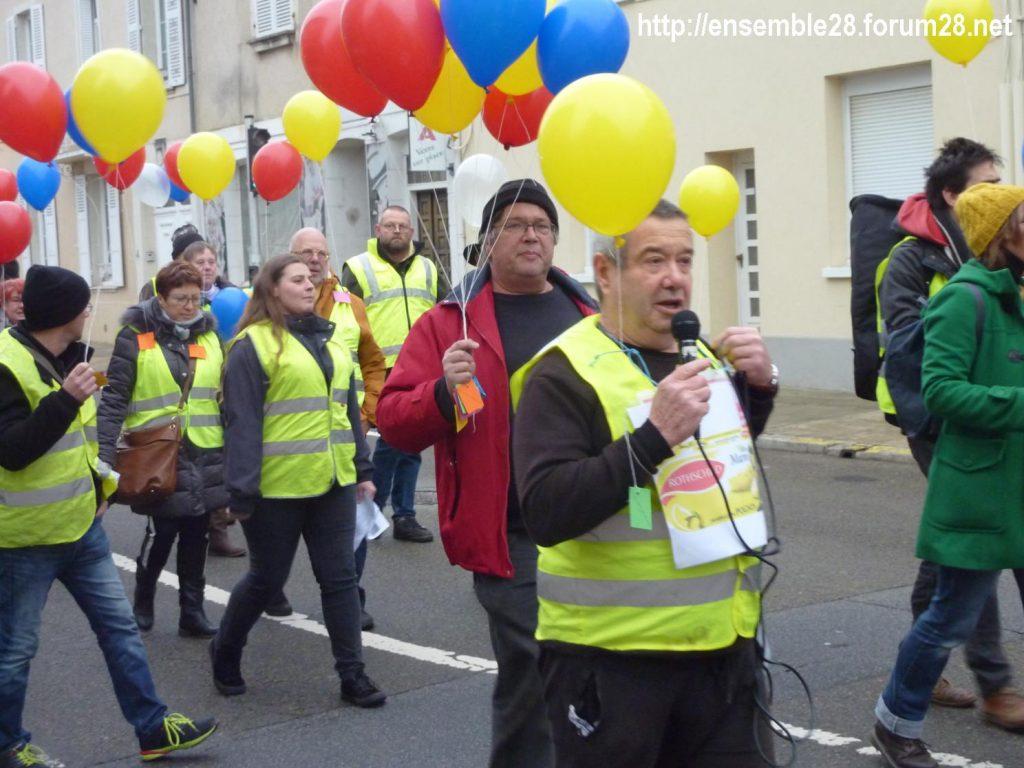 Gilets Jaunes 12-01-2019 Marche Nogent-le-Rotrou 02