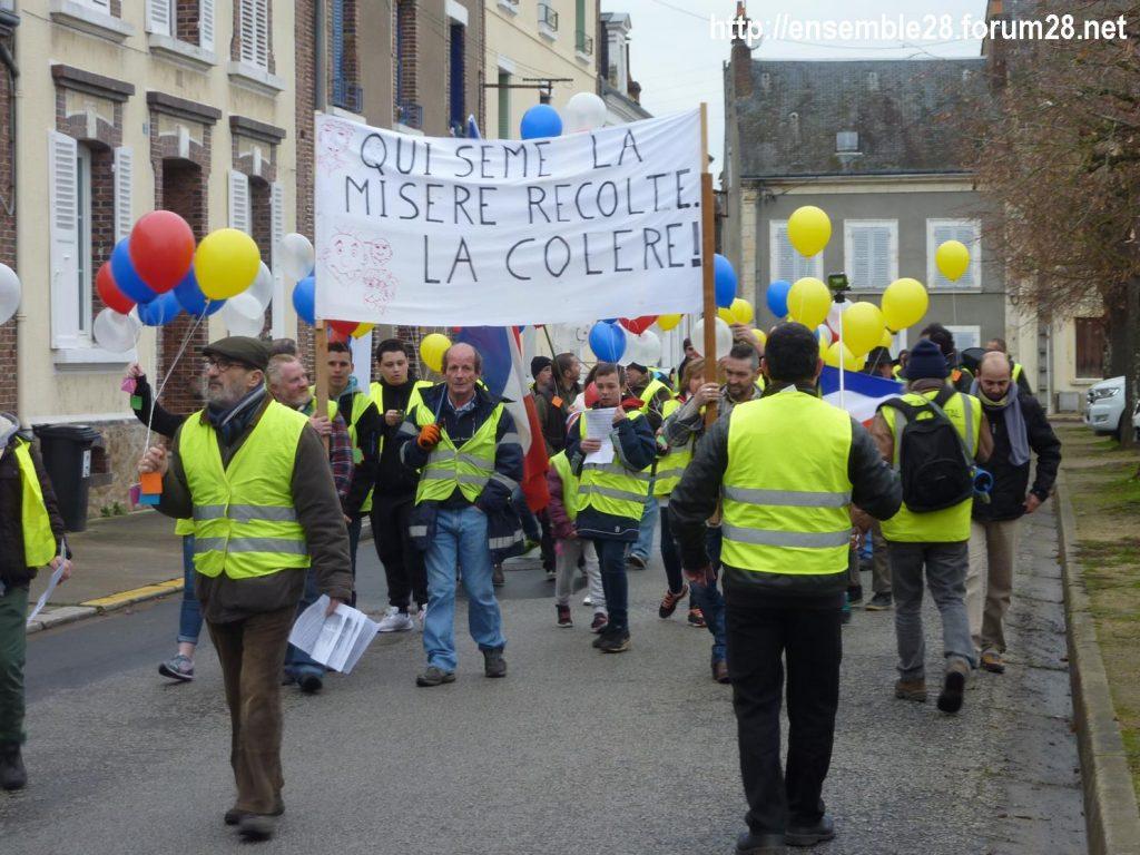 Gilets Jaunes 12-01-2019 Marche Nogent-le-Rotrou 03