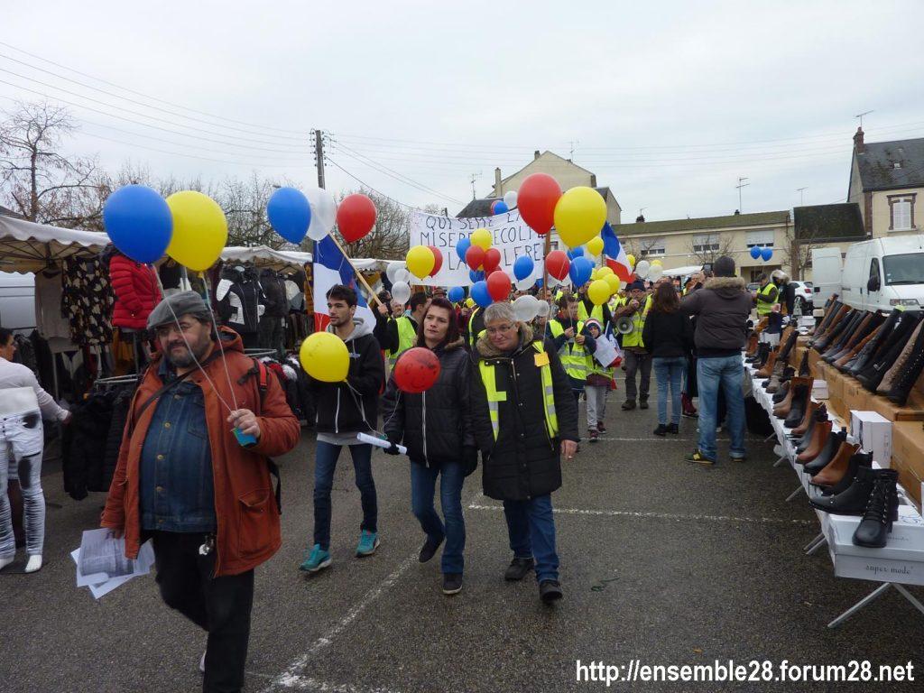 Gilets Jaunes 12-01-2019 Marche Nogent-le-Rotrou 06