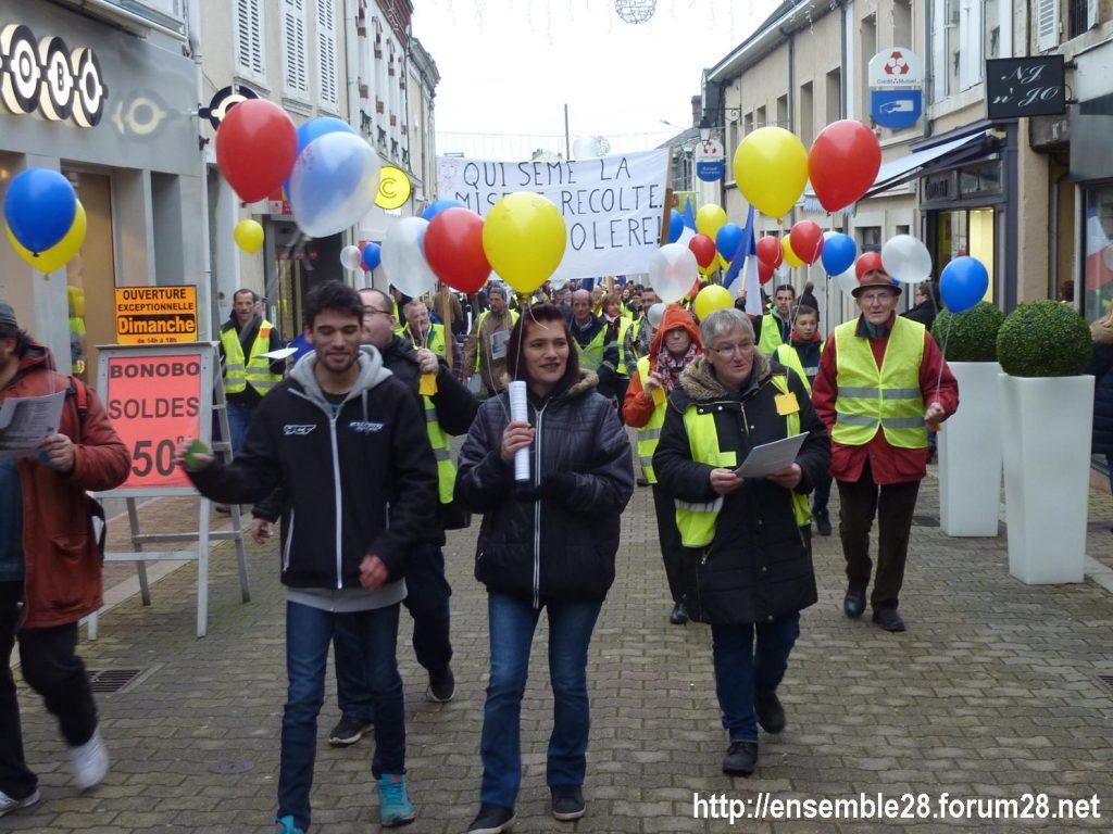 Gilets Jaunes 12-01-2019 Marche Nogent-le-Rotrou 07