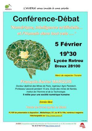 La société numérique en question / Conférence-Débat / Lycée Rotrou / Dreux / 5 février / 19 h. 30 @ DREUX -  Auditorium du Lycée Rotrou -
