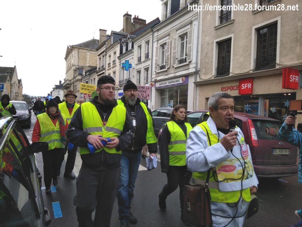 Nogent-le-Rotrou 26-01-2019 Gilets-Jaunes Manifestation 03