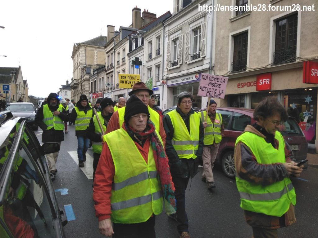 Nogent-le-Rotrou 26-01-2019 Gilets-Jaunes Manifestation 04