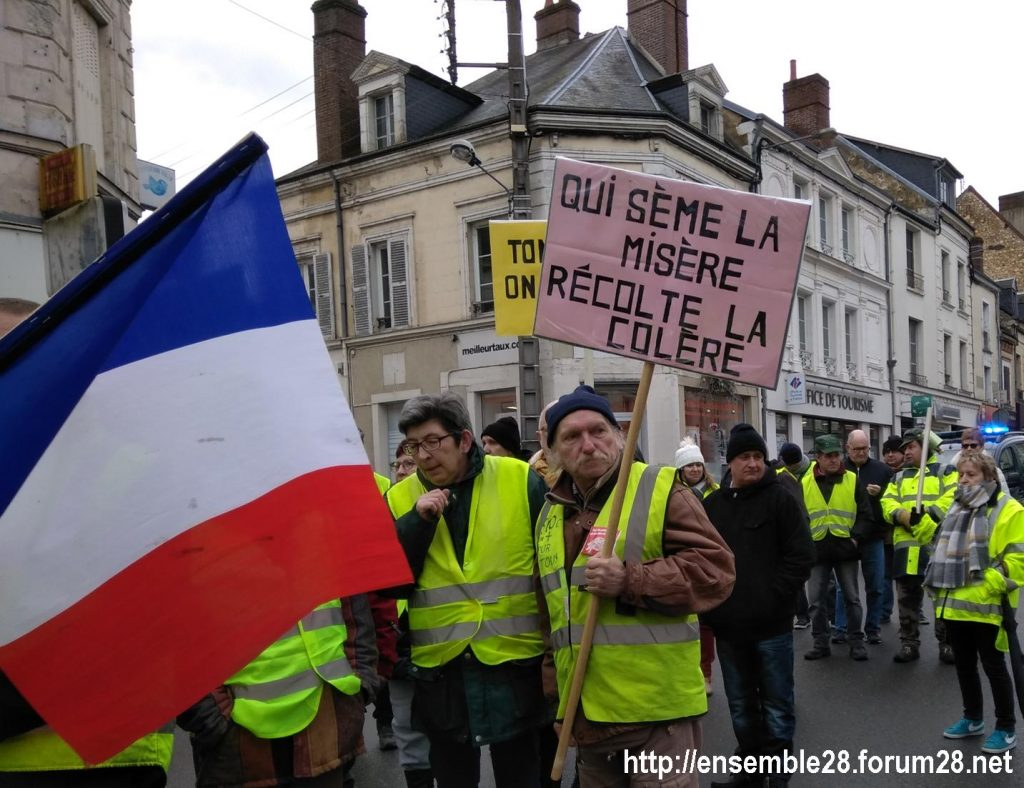 Nogent-le-Rotrou 26-01-2019 Gilets-Jaunes Manifestation 06