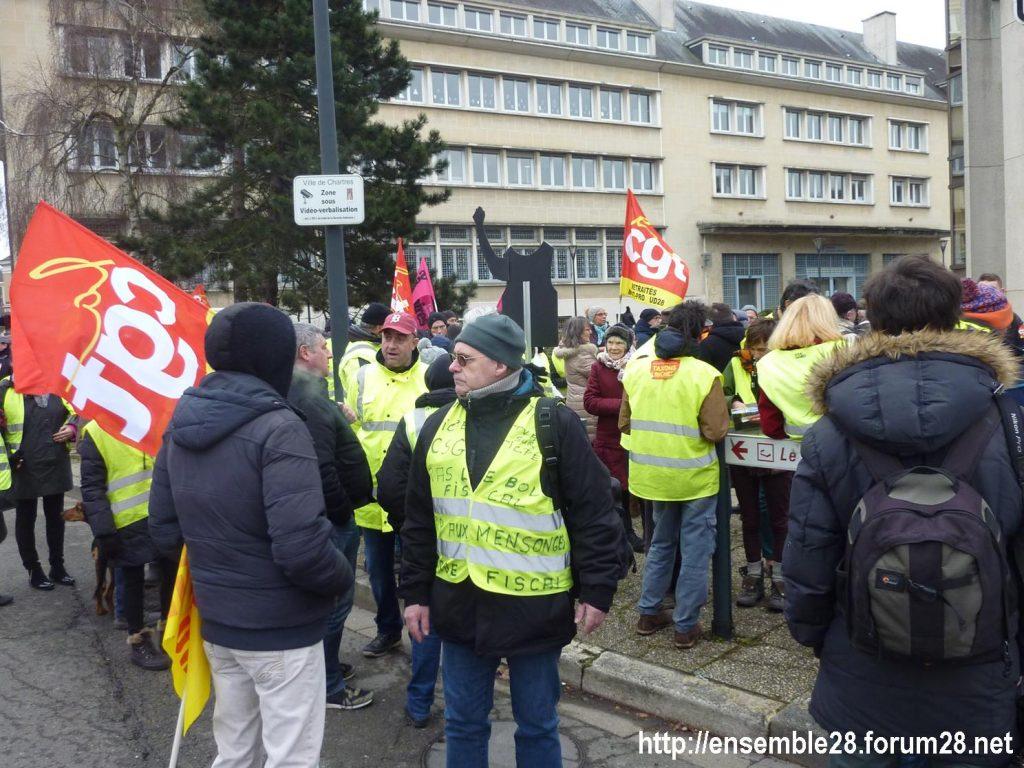 Chartres 05-02-2019 Manifestation CGT Gilets-Jaunes 02