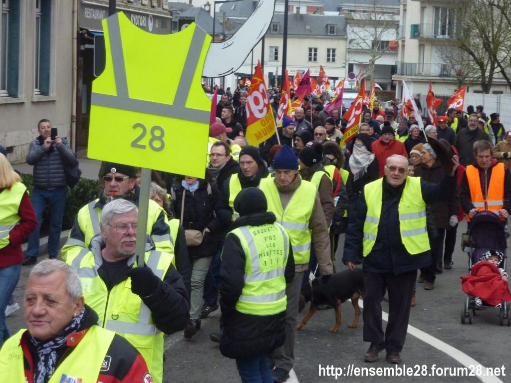 Chartres 05-02-2019 Manifestation CGT Gilets-Jaunes 04