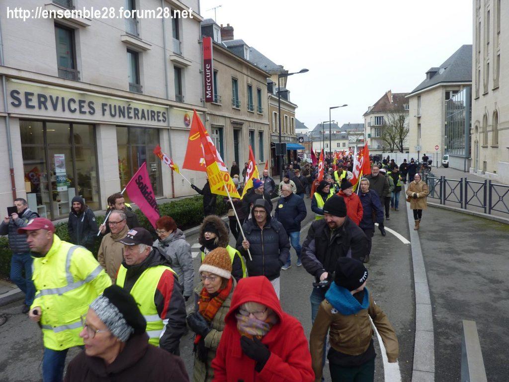 Chartres 05-02-2019 Manifestation CGT Gilets-Jaunes 05