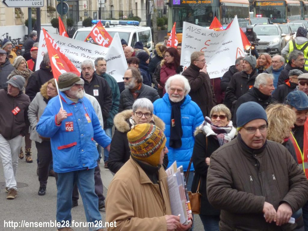 Chartres 05-02-2019 Manifestation CGT Gilets-Jaunes 07