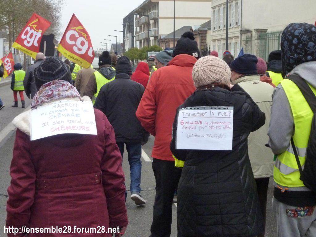 Chartres 05-02-2019 Manifestation CGT Gilets-Jaunes 08