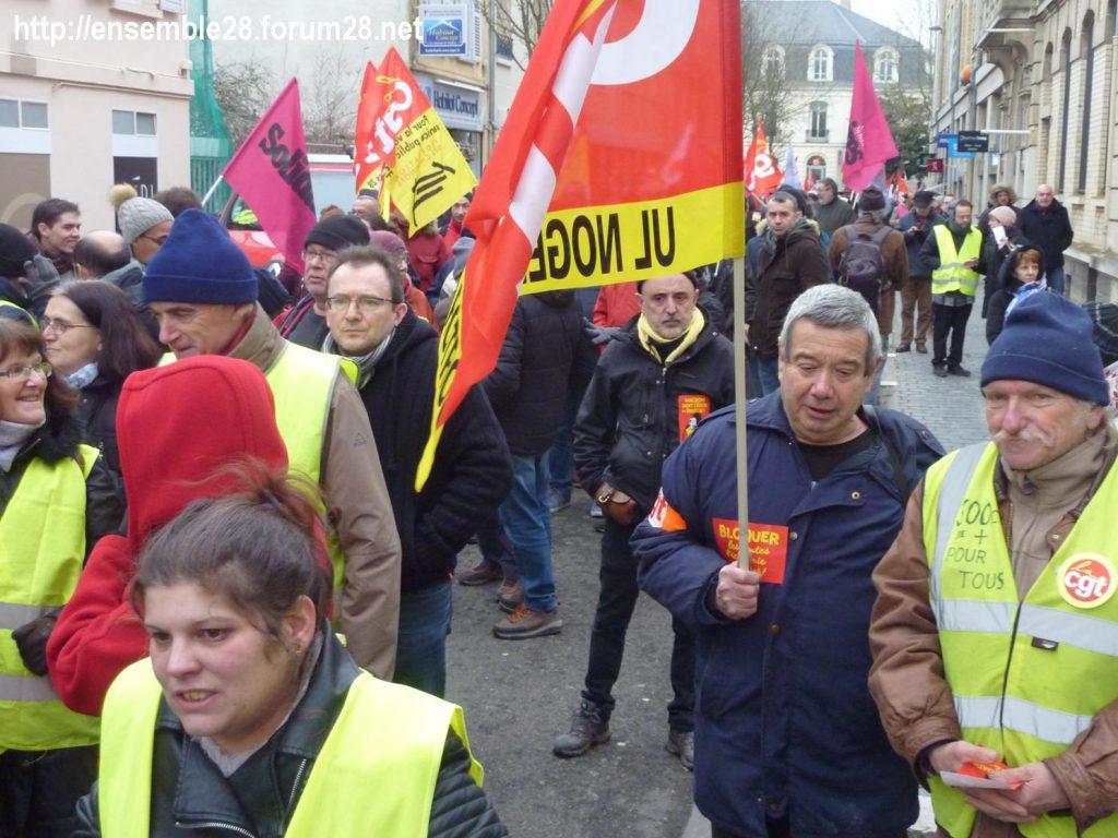 Chartres 05-02-2019 Manifestation CGT Gilets-Jaunes 09