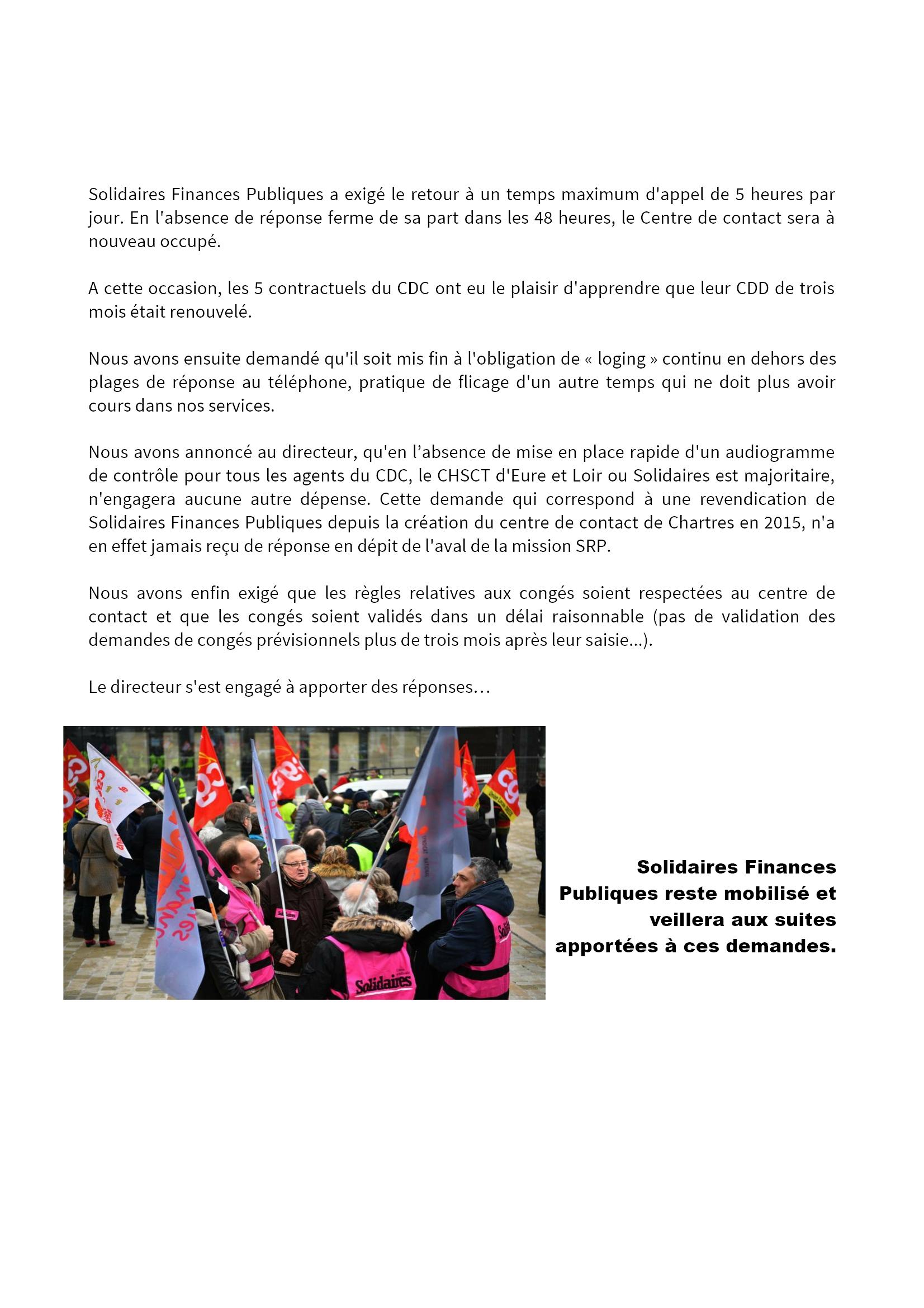 Grève et actions du 5 février 2019 aux Finances à Chartres [CR Solidaires] 2x3