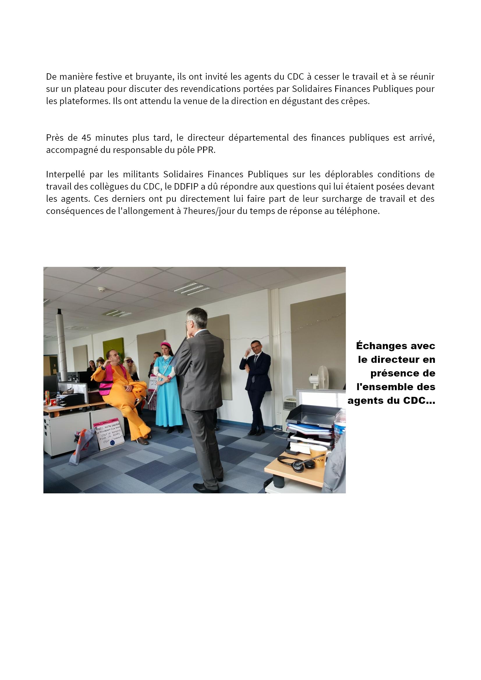 Grève et actions du 5 février 2019 aux Finances à Chartres [CR Solidaires] 3x3