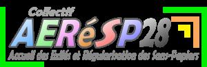 Logo Collectif AERéSP28 avec sous-titre V.finale