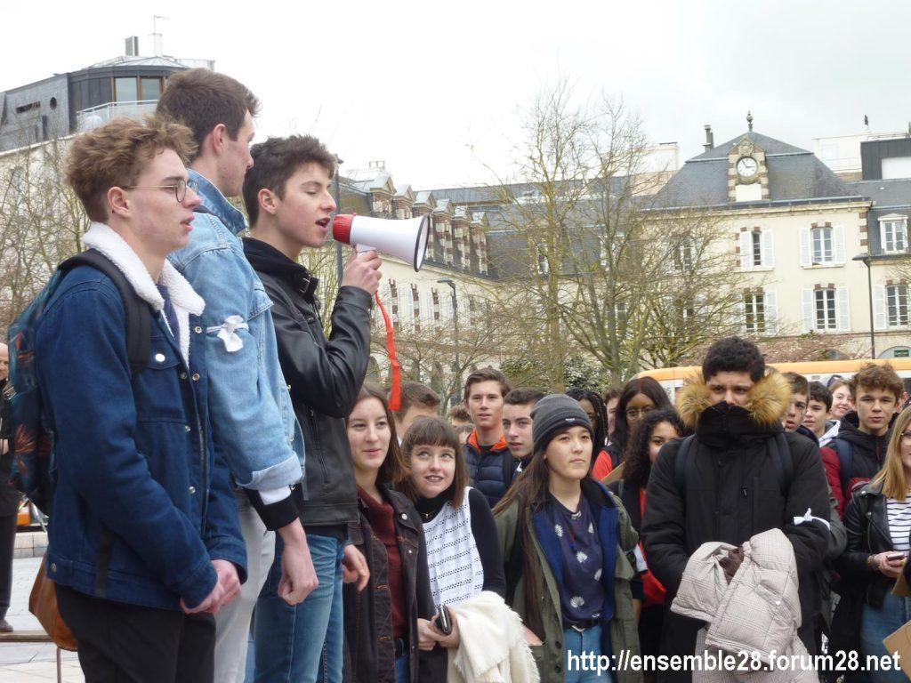 Chartres 15-03-2019 Manifestation Lycéens pour le Climat 03