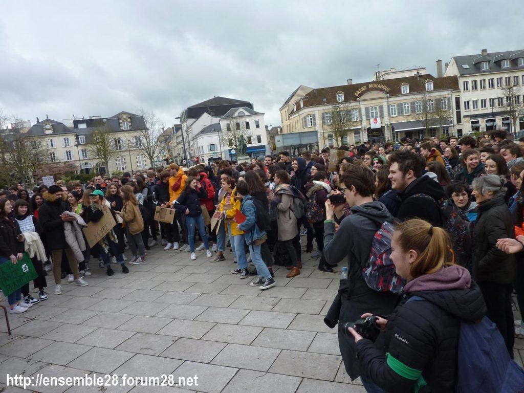 Chartres 15-03-2019 Manifestation Lycéens pour le Climat 04