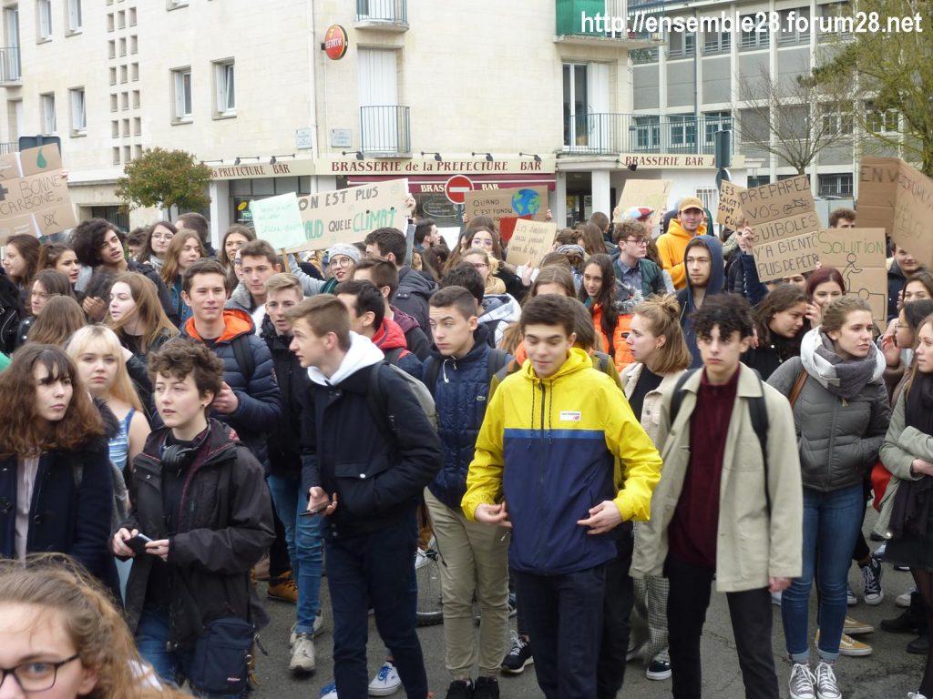 Chartres 15-03-2019 Manifestation Lycéens pour le Climat 09