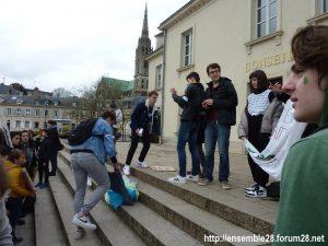 Chartres 15-03-2019 Manifestation Lycéens pour le Climat 13