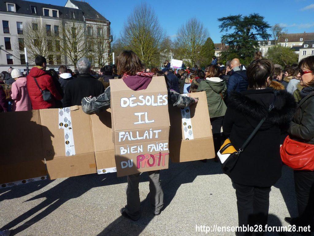 Chartres 16-03-2019 Marche du Siècle Climat 17