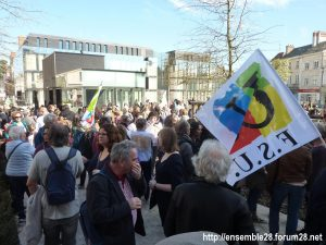 Chartres 19-03-2019 Manifestation Éducation Loi Blanquer 01