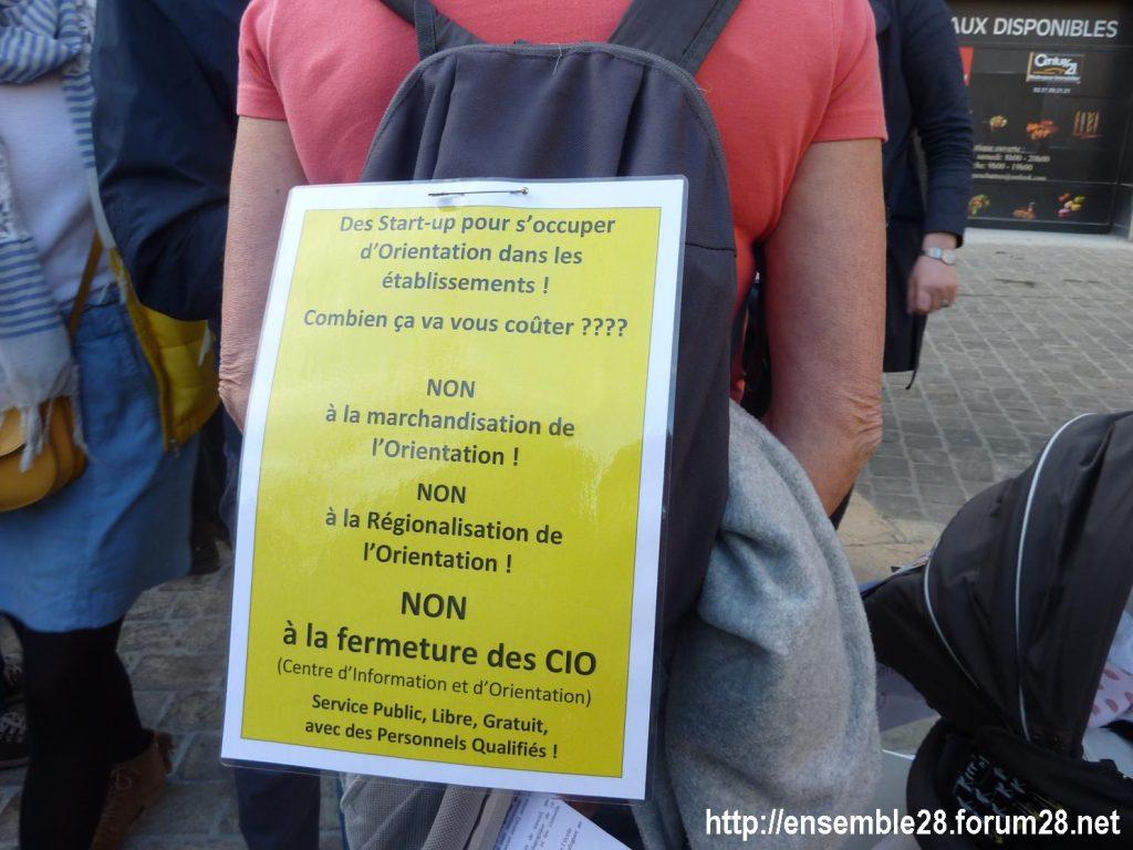 Chartres 19-03-2019 Manifestation Éducation Loi Blanquer 02