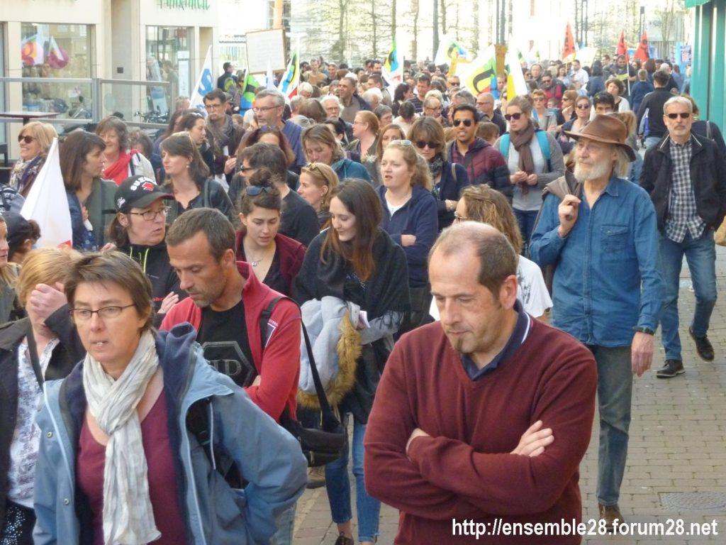 Chartres 19-03-2019 Manifestation Éducation Loi Blanquer 04