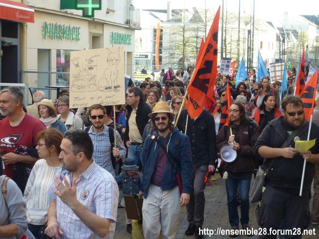 Chartres 19-03-2019 Manifestation Éducation Loi Blanquer 08