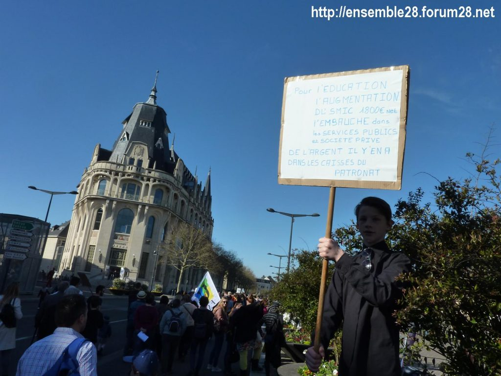 Chartres 19-03-2019 Manifestation Éducation Loi Blanquer 12