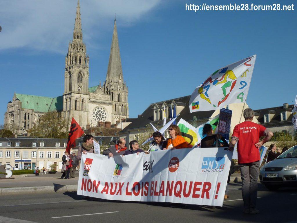 Chartres 19-03-2019 Manifestation Éducation Loi Blanquer 13