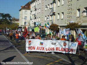 Chartres 19-03-2019 Manifestation Éducation Loi Blanquer 14