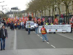 Chartres 19-03-2019 Manifestation Public-Privé CGT FO FSU Solidaires 00
