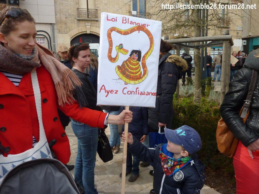 Chartres 19-03-2019 Manifestation Public-Privé CGT FO FSU Solidaires 02
