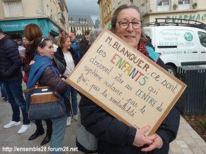Chartres 19-03-2019 Manifestation Public-Privé CGT FO FSU Solidaires 03