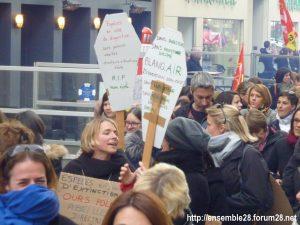 Chartres 19-03-2019 Manifestation Public-Privé CGT FO FSU Solidaires 05