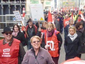 Chartres 19-03-2019 Manifestation Public-Privé CGT FO FSU Solidaires 10