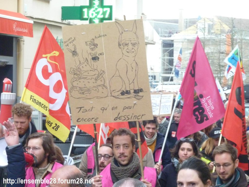 Chartres 19-03-2019 Manifestation Public-Privé CGT FO FSU Solidaires 12