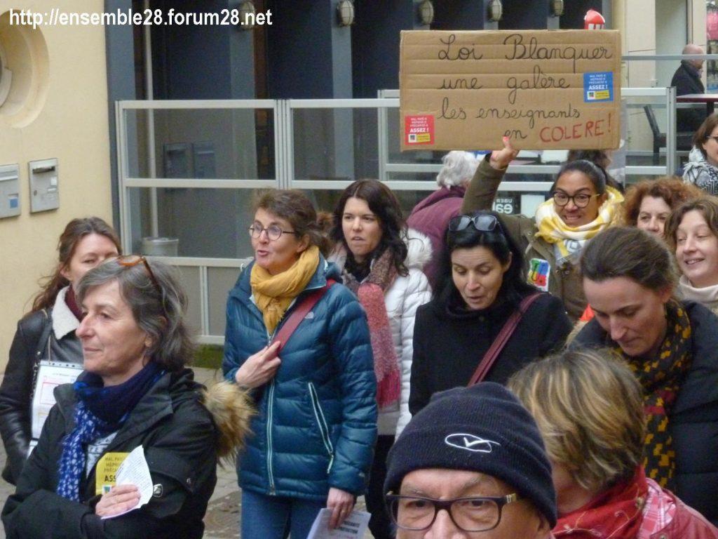 Chartres 19-03-2019 Manifestation Public-Privé CGT FO FSU Solidaires 15