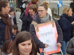 Chartres 19-03-2019 Manifestation Public-Privé CGT FO FSU Solidaires 20