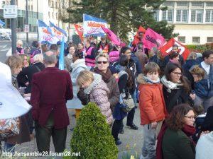 Chartres 27-03-2019 Fonction-publique Rassemblement Éducation Manifestation 01