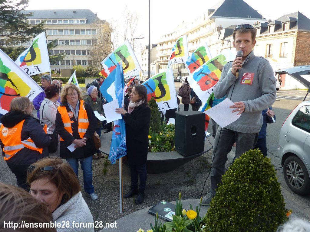 Chartres 27-03-2019 Fonction-publique Rassemblement Éducation Manifestation 05