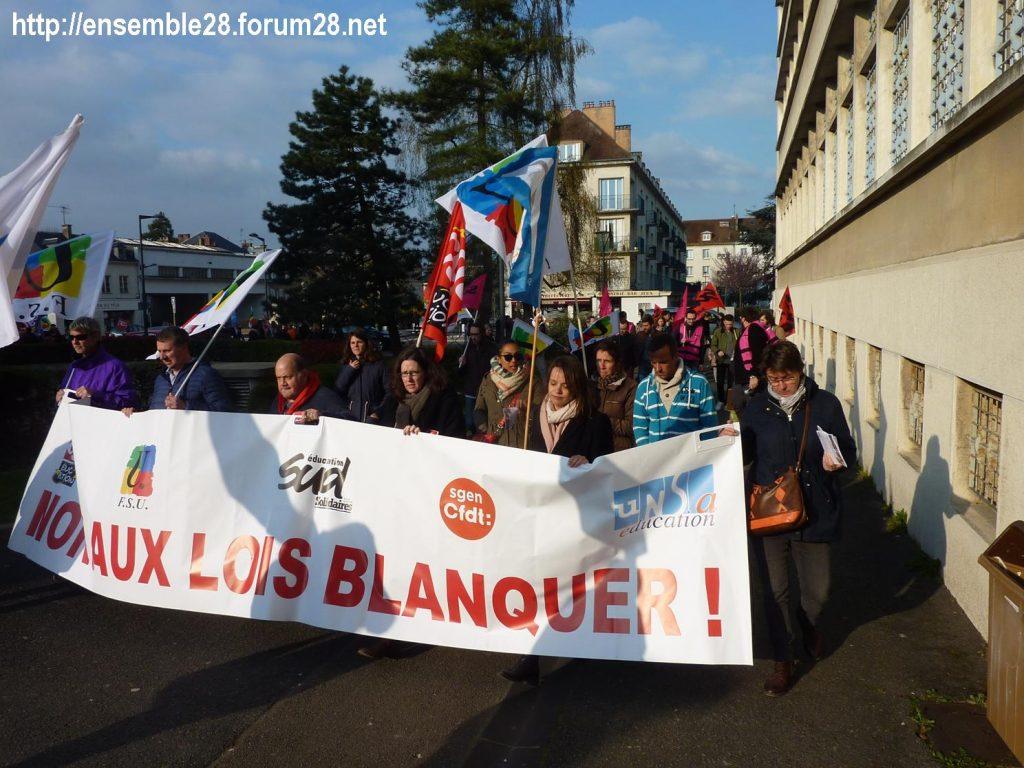 Chartres 27-03-2019 Fonction-publique Rassemblement Éducation Manifestation 07
