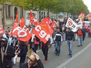 Chartres Manifestation CGT FO