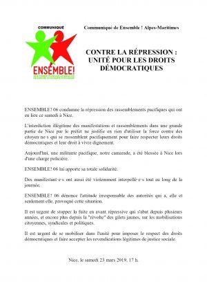 ComPress E! 06 Militante blessée par CRS 23-03-2019
