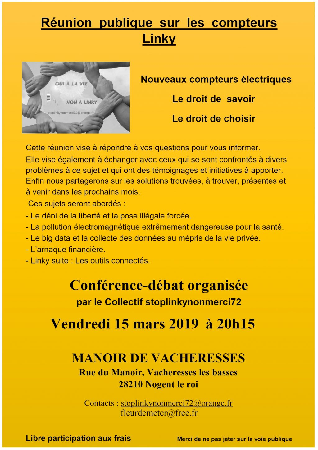 Linky 15-03-2019 Reunion publique Vacheresses [Affiche]