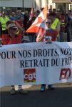 Manifestation à Chartres Interprofessionnelle 09-10-2018