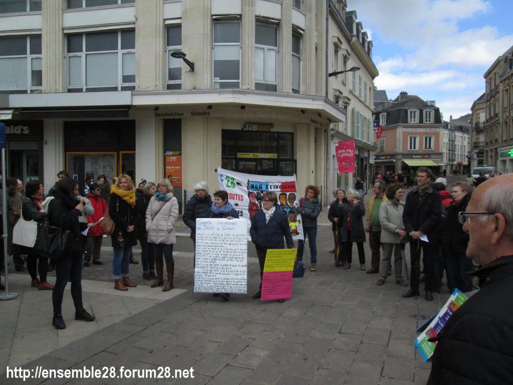 Chartres 03-04-2019 Manifestation AERéSP28 Mineurs-isolés-étrangers MIE MNA 01