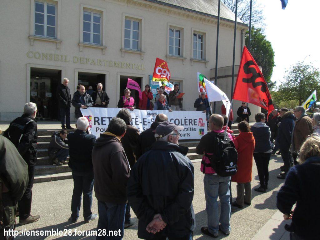 Chartres 11-04-2019 Manifestation Retraités 01