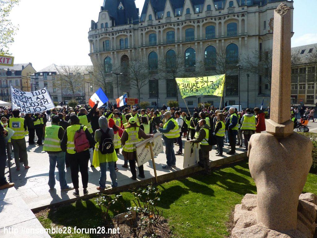 Chartres 13-04-2019 Acte XXII Manifestation régionale Gilets-Jaunes 12